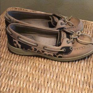 Leopard fur Sperry shoes